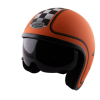 Casque Torx HARRY Flag Racer Orange Matt