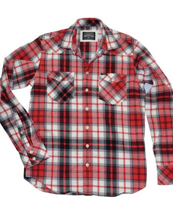 Chemise Rokker Indiana red, black, white